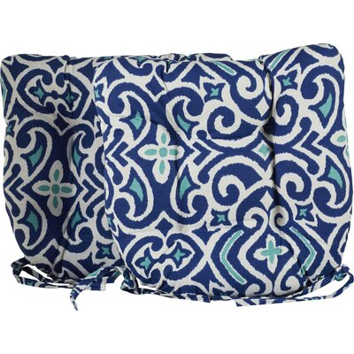 Fraley Chair Cushion Color: Blue / White