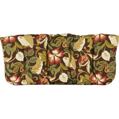 Tadley Outdoor Loveseat Cushion Color: Brown/Green Tropical