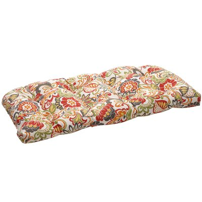 Tadley Outdoor Loveseat Cushion Color: Red/Green Floral