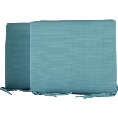 Tadley Outdoor Dining Chair Cushion Color: Turquoise