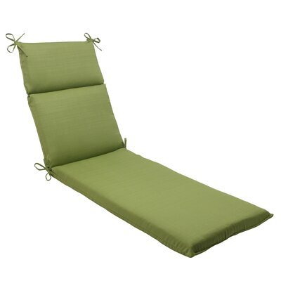 Tadley Chaise Lounge Cushion Color: Green