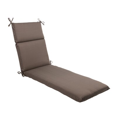 Tadley Chaise Lounge Cushion Color: Taupe
