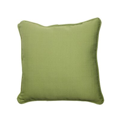 Tadley Corded Outdoor Throw Pillow Color: Green