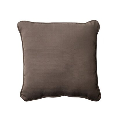 Tadley Corded Outdoor Throw Pillow Color: Taupe