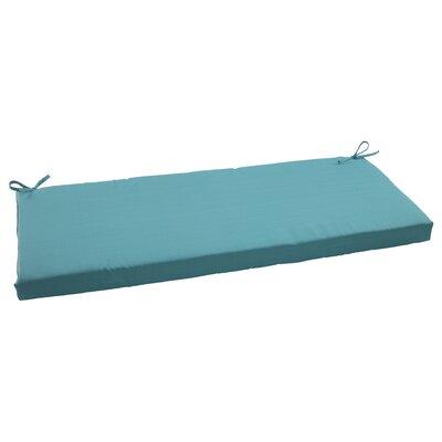 Tadley Scott Outdoor Bench Cushion Color: Turquoise