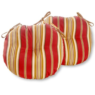 Bistro Outdoor Dining Chair Cushion Size: 15, Fabric: Roma Stripe