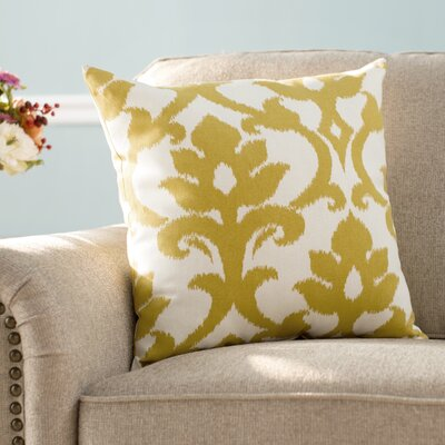 Irma Throw Pillow Size: 18 H x 18 W, Color: Yellow