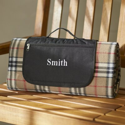 Personalized Tartan Plaid Picnic Blanket