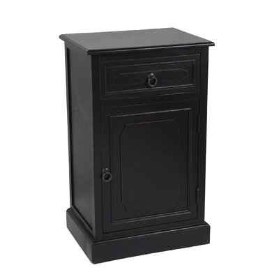 Fellers 1 Drawer 1 Door Accent Stand Finish: Black