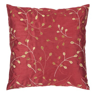 Selby Pillow Cover Size: 18 H x 18 W x 0.25 D, Color: Red