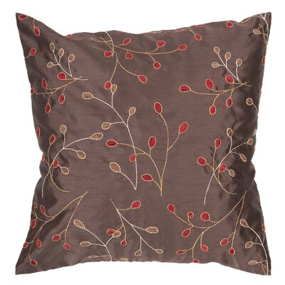 Selby Pillow Cover Size: 22 H x 22 W x 0.25 D, Color: Red