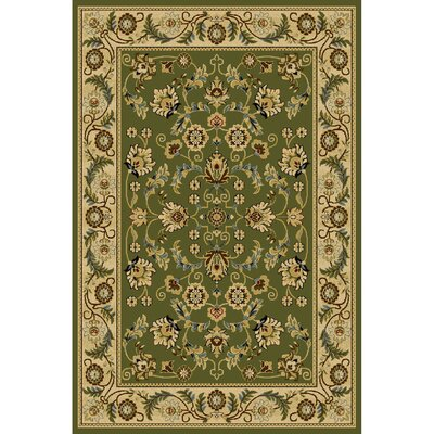 Fielding Green/Ivory Area Rug Rug Size: 3' x 5'