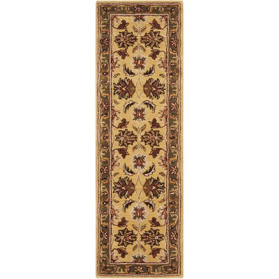 Finnegan Handmade Gold/Brown Area Rug Rug Size: Runner 2 x 7