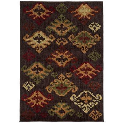 Flannagan Brown Area Rug Rug Size: 110 x 210