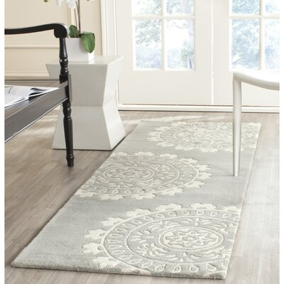 Harger Grey/Ivory Area Rug Rug Size: Runner 23 x 7