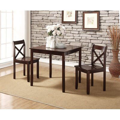 Flossmoor 3 Piece Dining Set Finish: Cappuccino