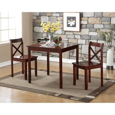Flossmoor 3 Piece Dining Set Finish: Cherry