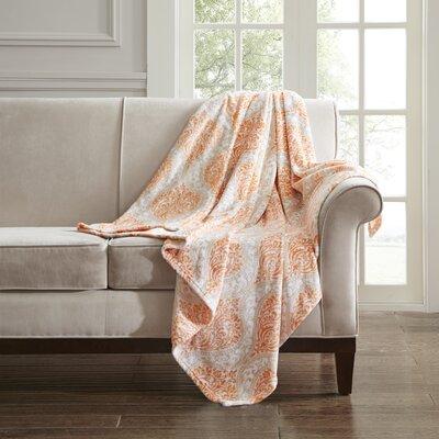 Folkerts Oversized Plush Throw Color: Orange