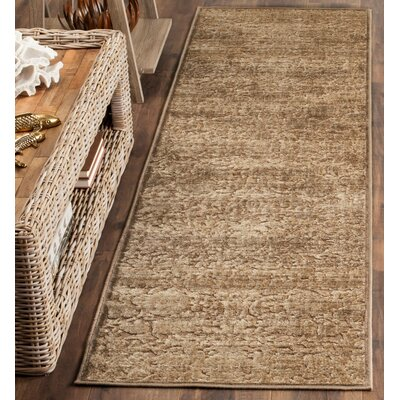 Soft Anthracite/Camel Area Rug Rug Size: Runner 2 x 8