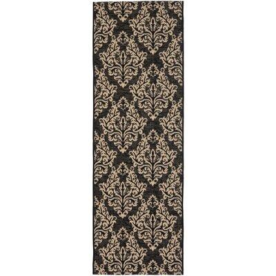 Octavius Black/Cream Indoor/Outdoor Area Rug Rug Size: Runner 23 x 8