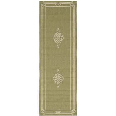 Octavius Green/Creme Indoor/Outdoor Rug Rug Size: Rectangle 27 x 5