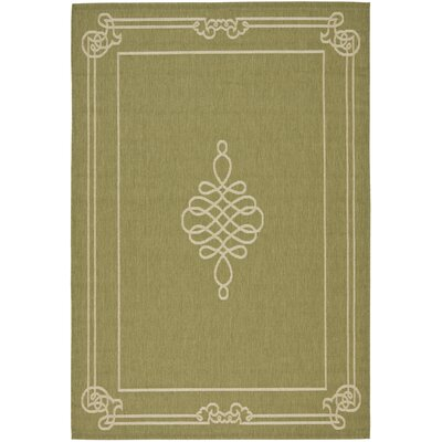 Octavius Green/Creme Indoor/Outdoor Rug Rug Size: Rectangle 4 x 57