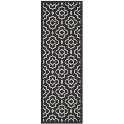 Octavius Black/Beige Indoor/Outdoor Area Rug Rug Size: Rectangle 27 x 5