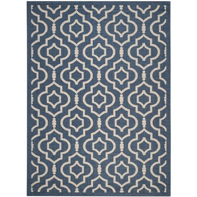Octavius Blue/Ivory Outdoor Area Rug Rug Size: 9 x 12