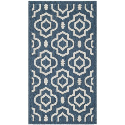 Octavius Navy/Beige Indoor/Outdoor Area Rug Rug Size: Rectangle 2 x 37