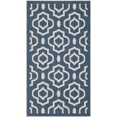 Octavius Navy/Beige Indoor/Outdoor Area Rug Rug Size: Rectangle 4 x 57