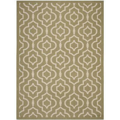 Octavius Green/Beige Indoor/Outdoor Area Rug Rug Size: 8 x 11