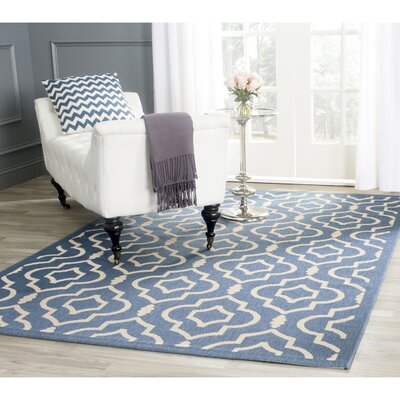 Octavius Blue/Beige Outdoor Area Rug Rug Size: Rectangle 9 x 12