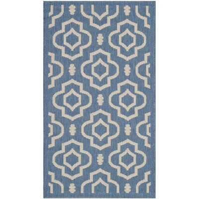 Alderman Blue/Beige Outdoor Area Rug Rug Size: 4 x 57