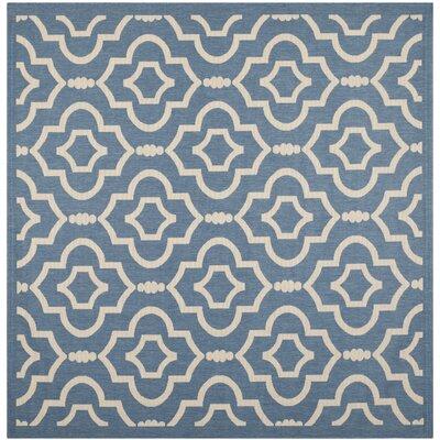 Octavius Blue/Beige Outdoor Area Rug Rug Size: Square 710
