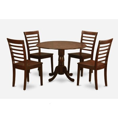 Gloucester 5 Piece Dining Set Upholstery: Mahogany