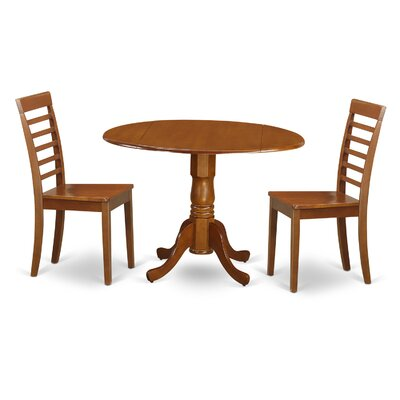 Gloucester 3 Piece Dining Set Finish: Saddle Brown