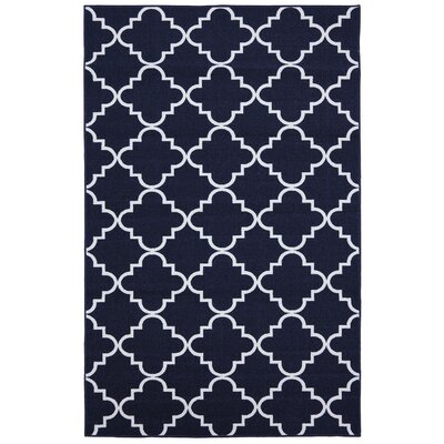 Hanley Navy Area Rug Rug Size: Rectangle 76 x 10