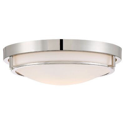 Gambrell 2-Light Flush Mount Finish: Polished Nickel