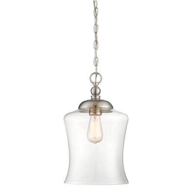 Gammons 1-Light Inverted Pendant Finish: Brushed Nickel