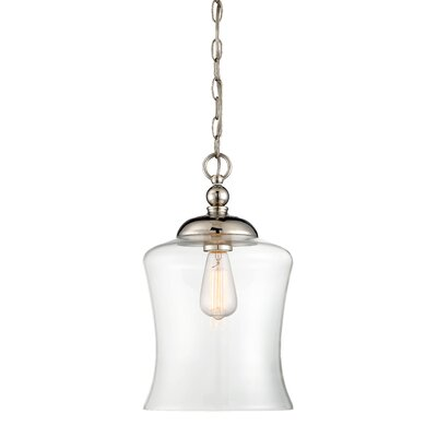 Gammons 1-Light Mini Pendant Finish: Polished Nickel
