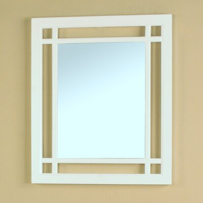 Elba Rectangular Wall Mirror Finish: White