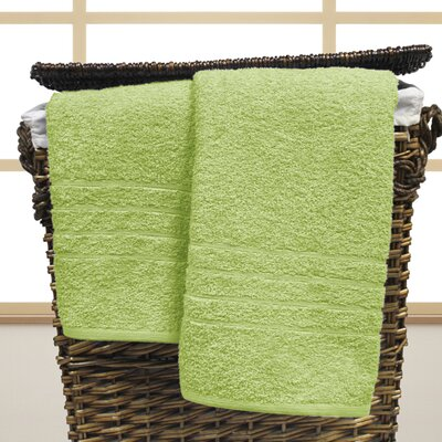 Strafford Cotton Oversized Bath Sheet Color: Lime