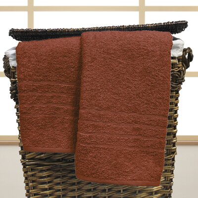 Strafford Cotton Oversized Bath Sheet Color: Spice
