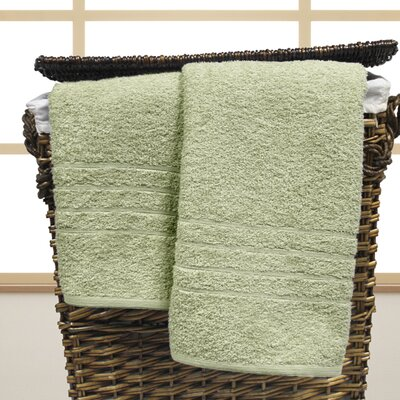 Strafford Cotton Oversized Bath Sheet Color: Jade