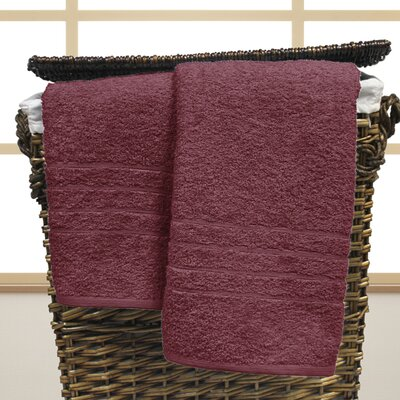 Strafford Cotton Oversized Bath Sheet Color: Rose