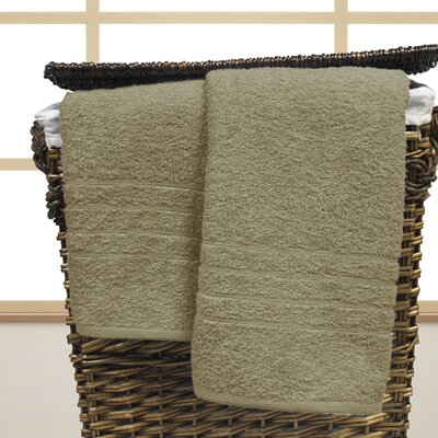 Strafford Cotton Oversized Bath Sheet Color: Taupe
