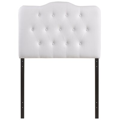 Minneapolis Upholstered Panel Headboard Size: Twin, Upholstery: White