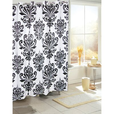 Plastic Shower Curtain Color: Black