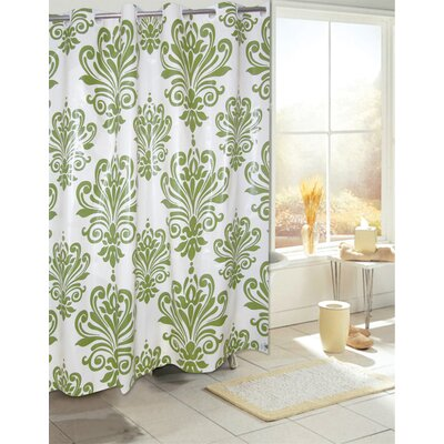 Plastic Shower Curtain Color: Sage