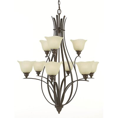 Dakota 9-Light Shaded Chandelier Finish: Grecian Bronze